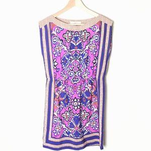 Ann Taylor LOFT Bandana Print Boat Neck Dress